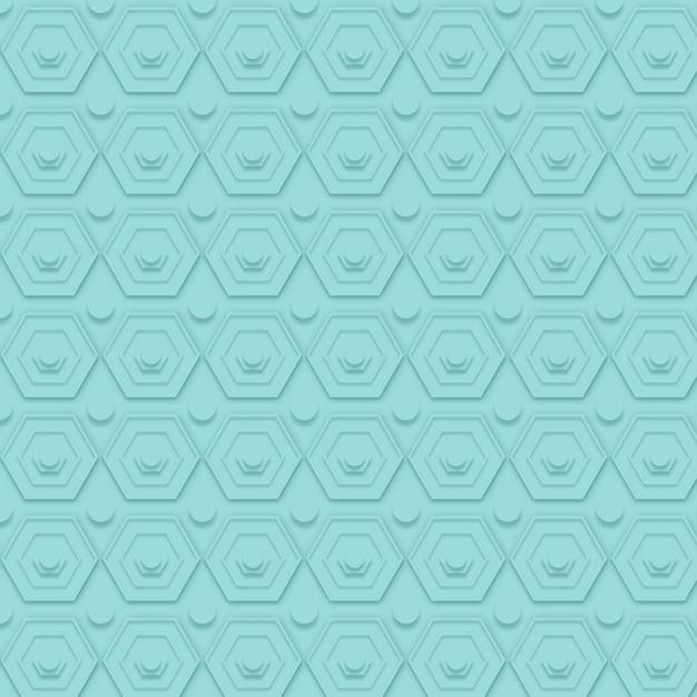 図形を使用したシンプルな青パターン 無料ベクター