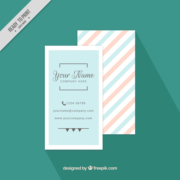 Minimalist business card in pastel colors Free Vector