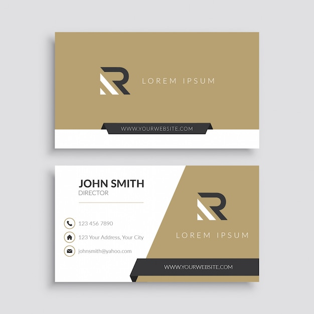 Minimalist business card template Premium Vector