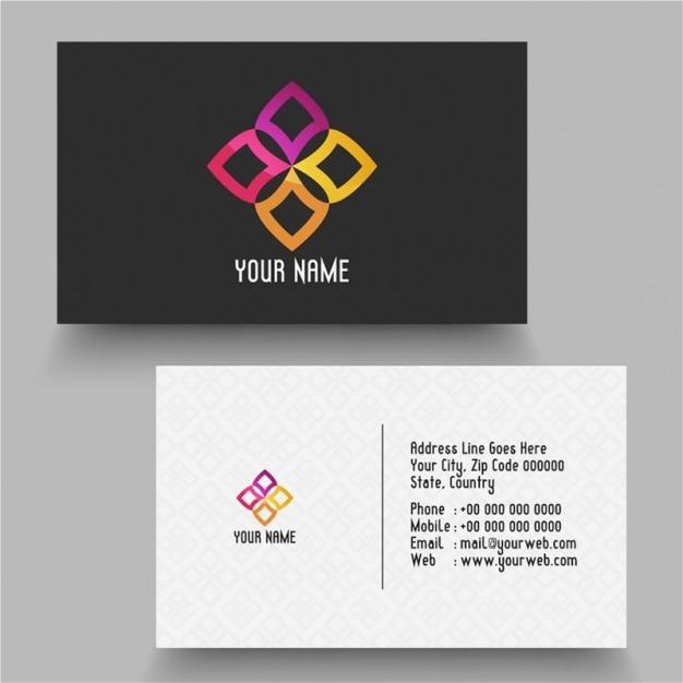 Minimalist Business Card Premium Vector