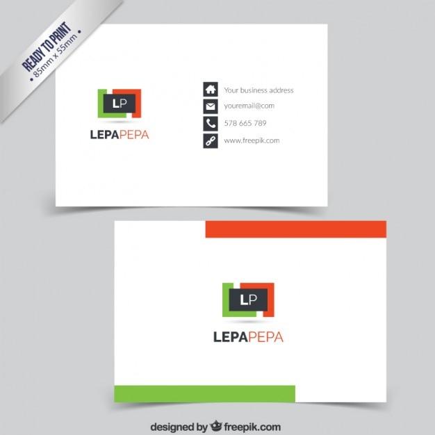 Minimalist Business Card Free Vector