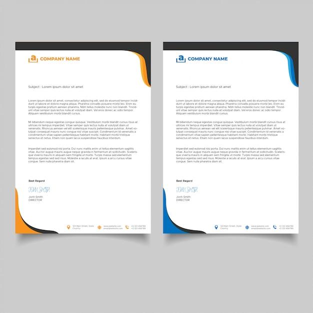 Minimalist business letterhead template Premium Vector