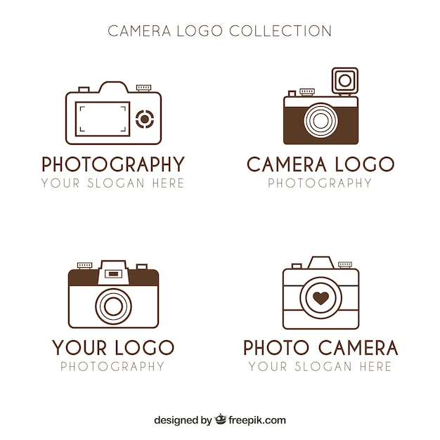 Minimalist camera logo collection