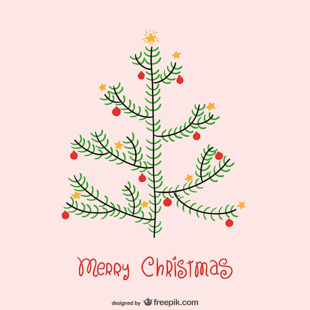 Minimalist Christmas.Minimalist Christmas Card With Tree Vector Free Download