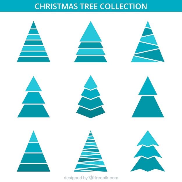 minimalist christmas trees in blue tones vector free. Black Bedroom Furniture Sets. Home Design Ideas