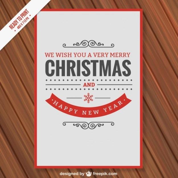 Minimalist Cmyk Christmas Card Vector Free Download