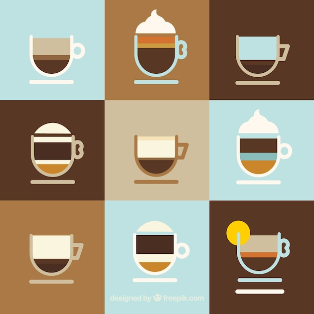 Minimalist collection of coffee cups