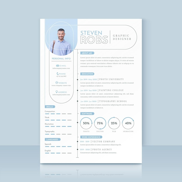 Resume Minimal Images Free Vectors Stock Photos Psd