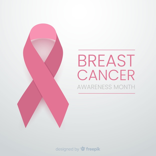 Minimalist design for cancer awareness with ribbon Free Vector