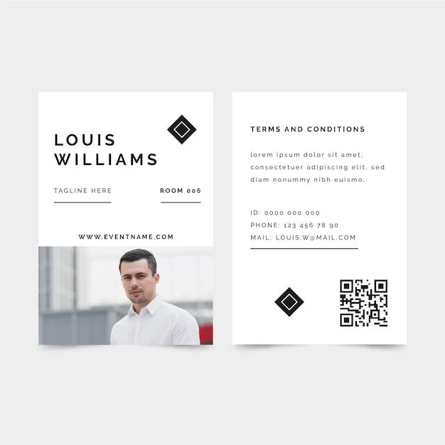 Minimalist design id cards template Free Vector