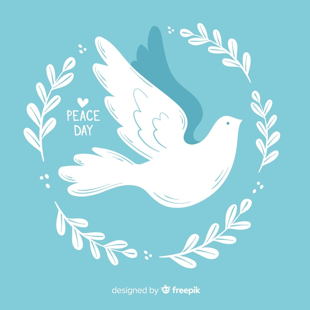 Minimalist dove for day of peace Free Vector