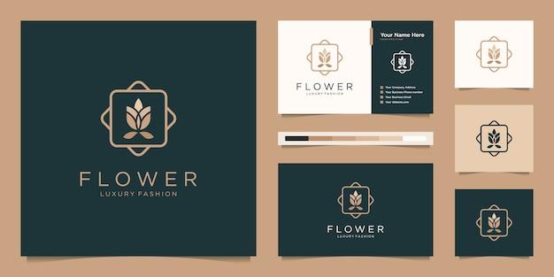 Минималистская элегантная цветочная роза класса люкс, салон красоты, мода, средства по уходу за кожей, косметика, товары для йоги и спа. Premium векторы