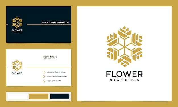 Минималистский элегантный современный цветочный дизайн логотипа вдохновения, для салонов, спа, ухода за кожей, бутиков, с визитками Premium векторы