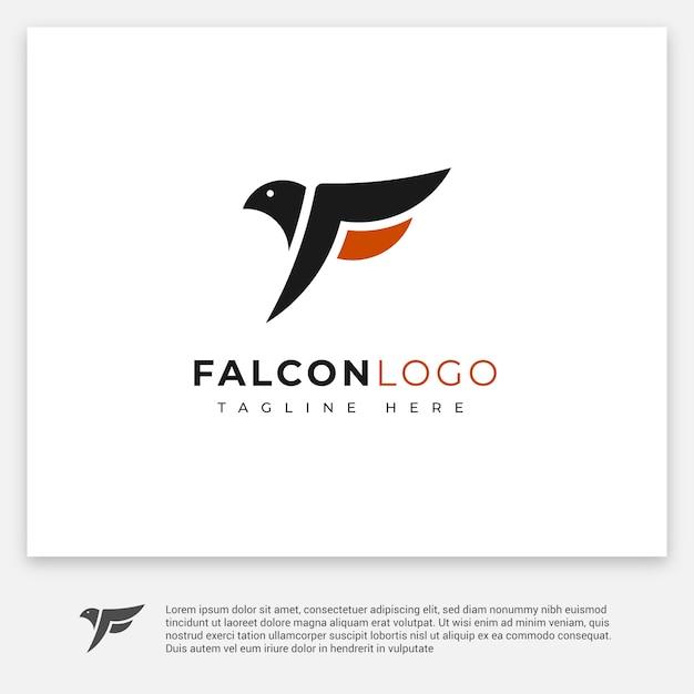 シンプルなファルコンロゴ Premiumベクター
