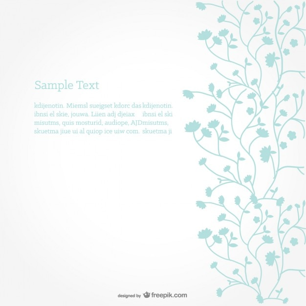 Minimalist floral background Free Vector