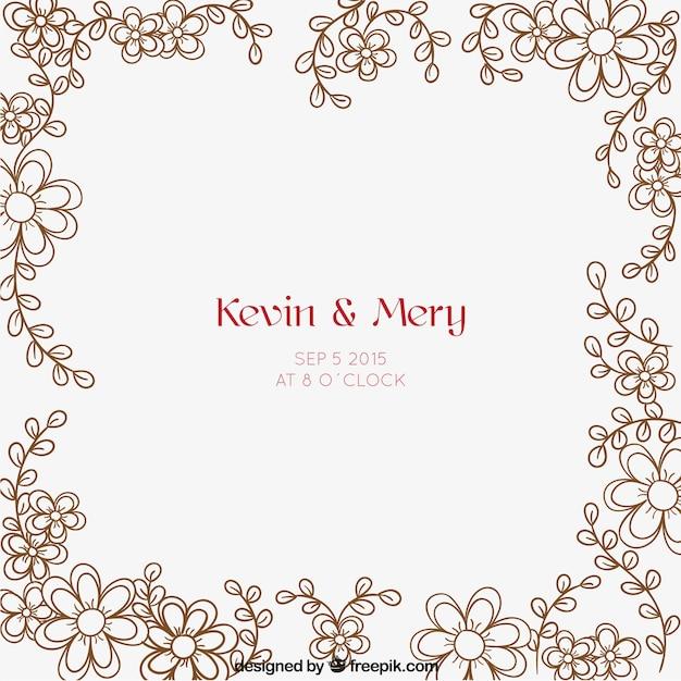 Minimalist floral wedding invitation vector free download minimalist floral wedding invitation free vector stopboris Images