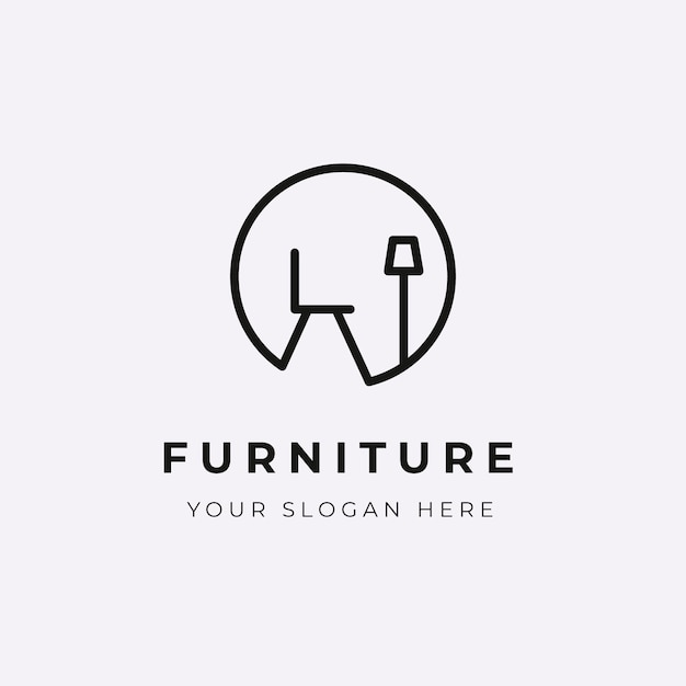 Минималистичный мебельный логотип компании Бесплатные векторы