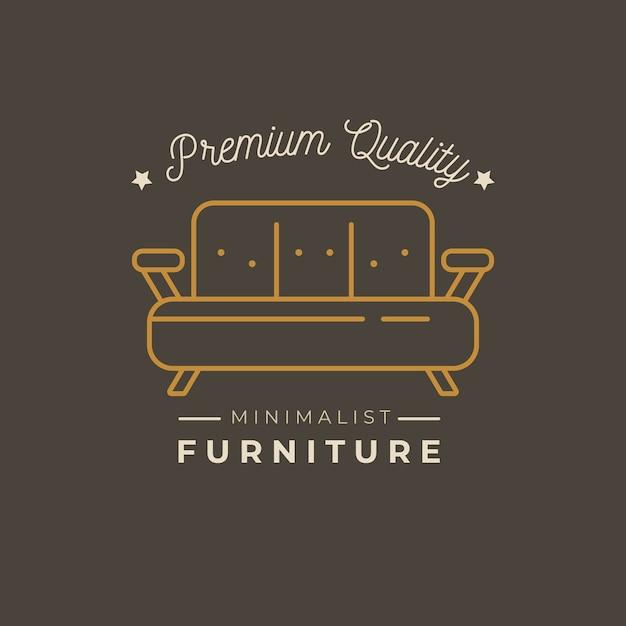 Минималистичный дизайн мебели с логотипом Бесплатные векторы