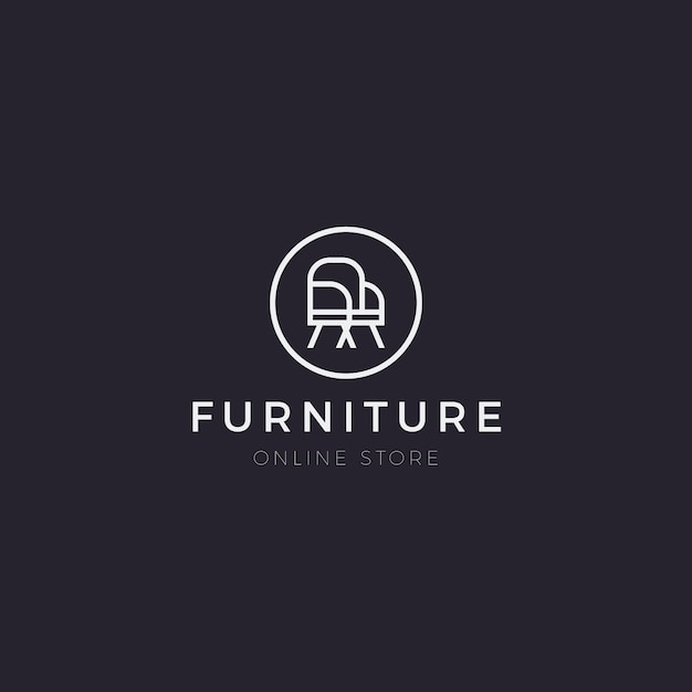 Минималистичный мебельный логотип Premium векторы
