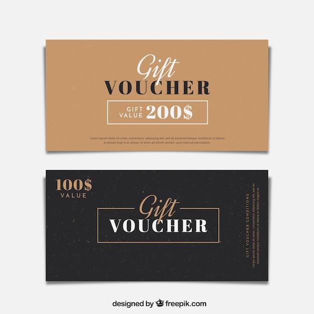 Minimalist Gift Vouchers Free Vector  Design Gift Vouchers Free