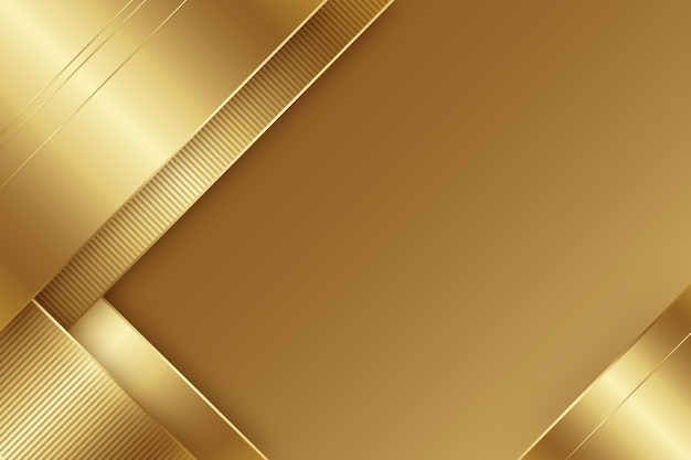 Minimalist gold luxury background Free Vector