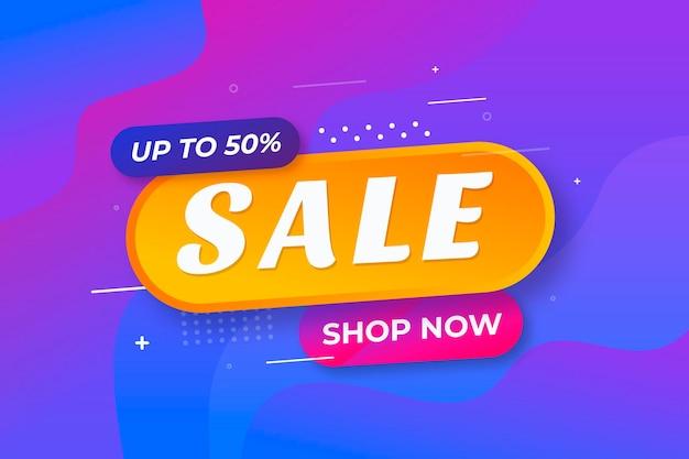Минималистичный градиент красочный фон продажи Бесплатные векторы