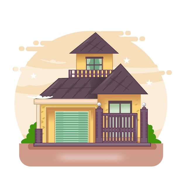 Минималистский дом. Premium векторы