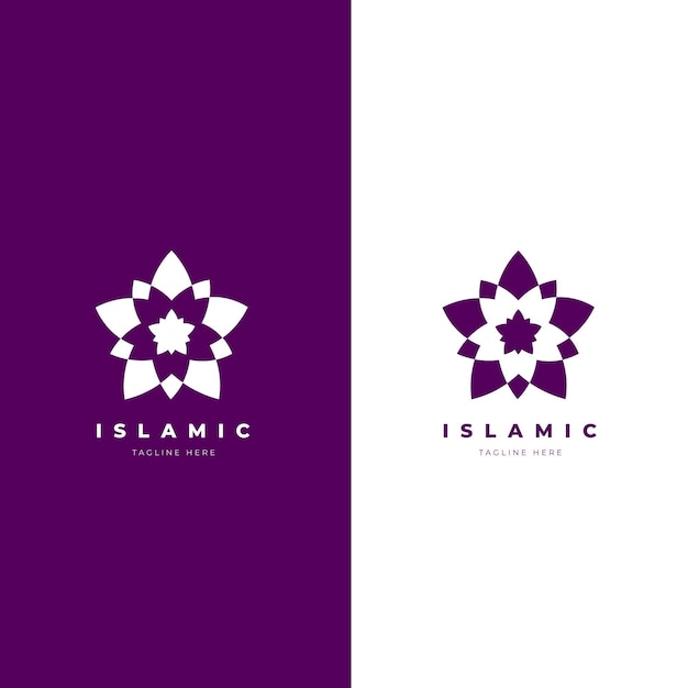 Logo islamico minimalista in due colori Vettore gratuito
