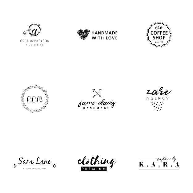 Minimalist Logo Templates Collection Vector