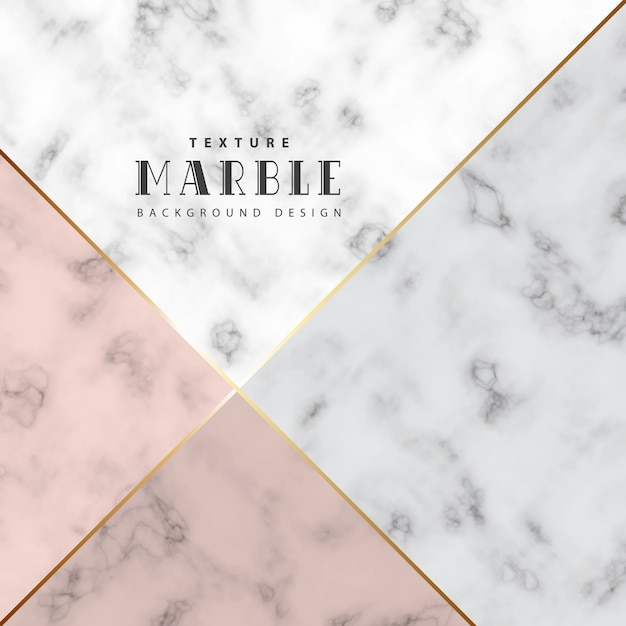 Minimalist marble background with color and gold in line Premium Vector