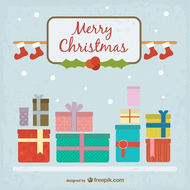 Minimalist merry Christmas background