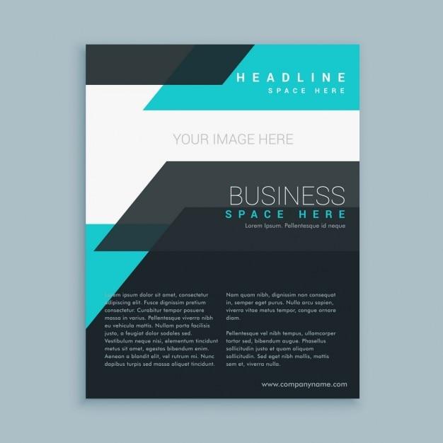 minimalist modern business flyer brochure template vector