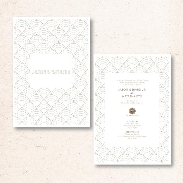 Minimalist and modern gold invitation Premium Vector