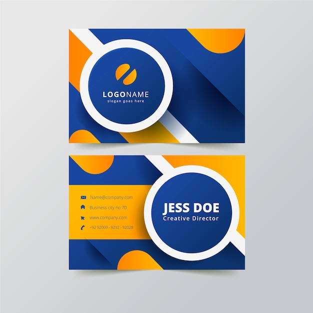 Minimalist neumorph business card template Free Vector