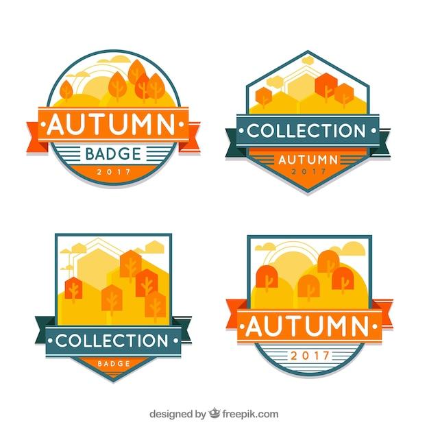 Minimalist pack of autumn badges