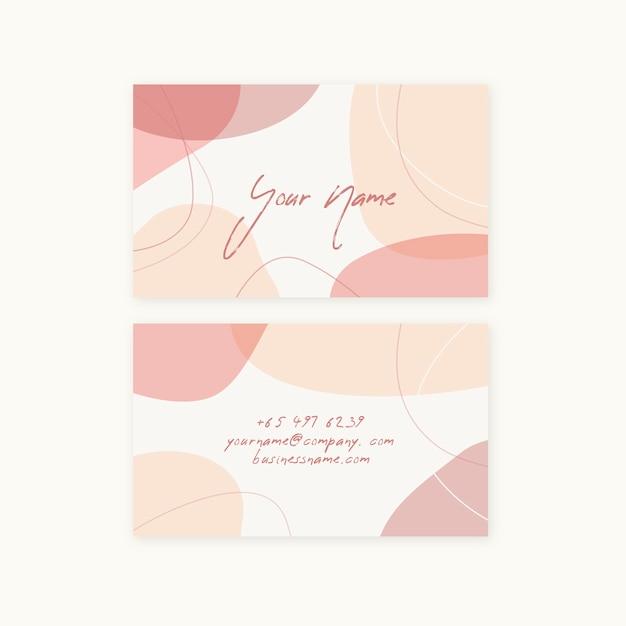 Minimalist pastel colored company card Free Vector