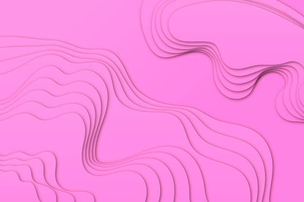 Minimalist pink topographic map background Free Vector