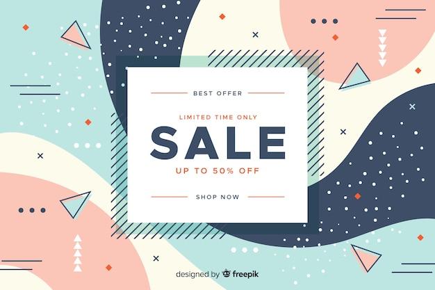Minimalist sale design concept background Free Vector