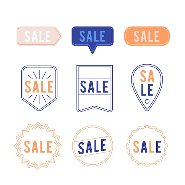 Minimalist sales label collection Free Vector