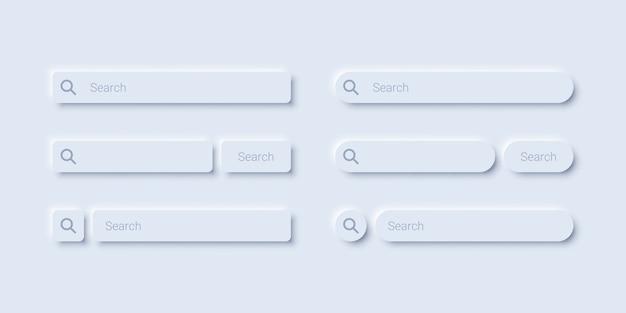 Минималистичный дизайн панели поиска Premium векторы
