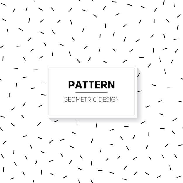 Minimalist short lines pattern Free Vector