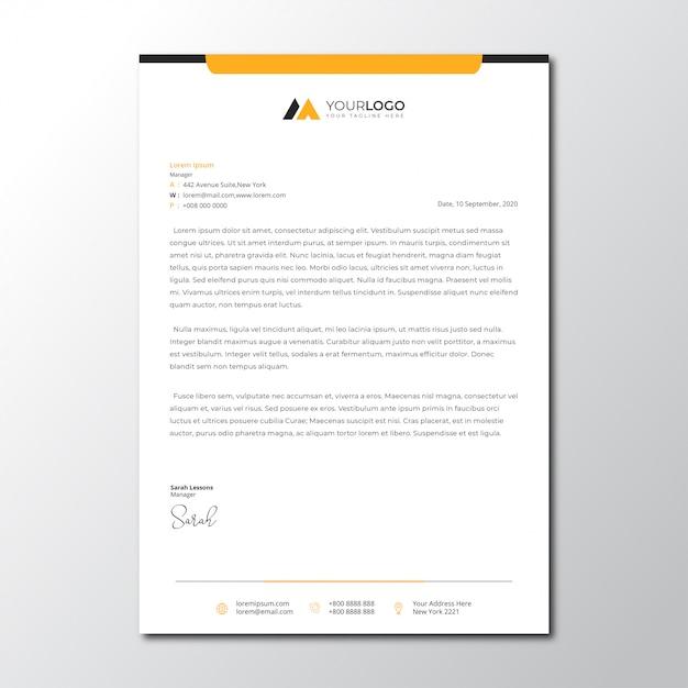 Minimalist simple letterhead template Premium Vector