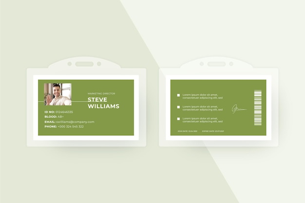 Minimalist style id cards template Free Vector