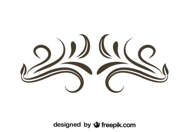 minimalist swirl vintage style decoration vector free download. Black Bedroom Furniture Sets. Home Design Ideas