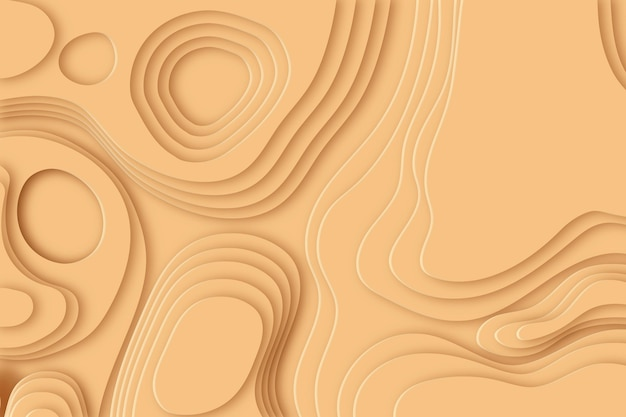 Minimalist topographic map wallpaper Free Vector