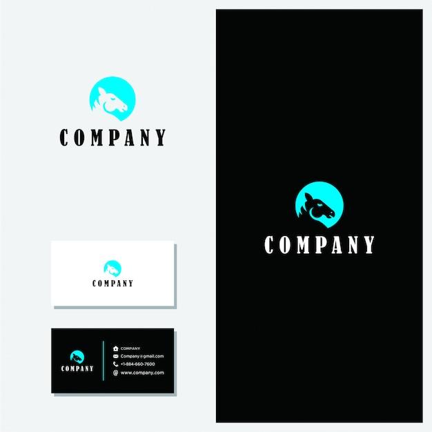 Minimalist vector premium horse logo Premium Vector