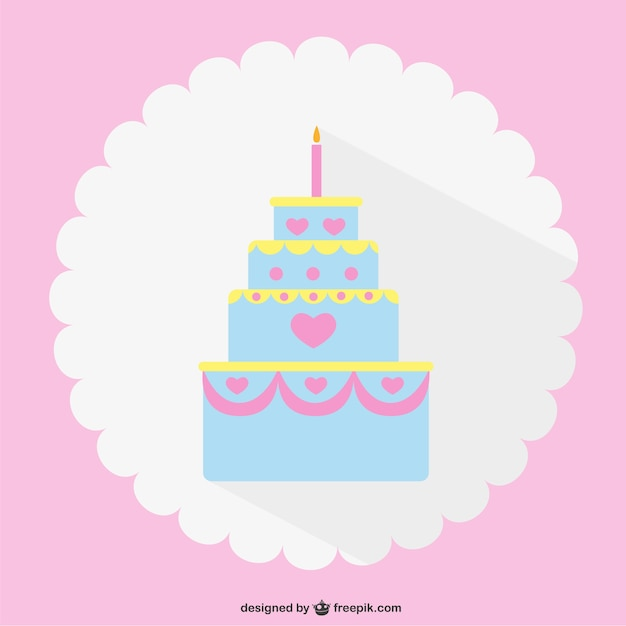 Clipart Cake Vector Free Download : Minimalist Wedding cake Vector Free Download