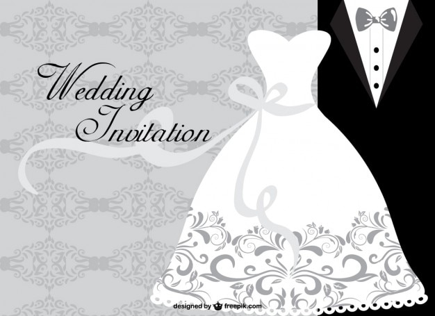 Minimalist wedding card Premium Vector