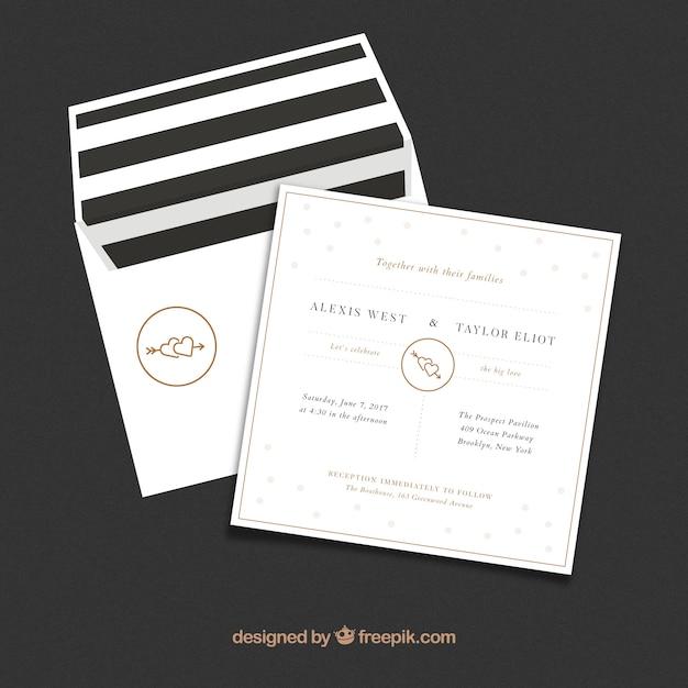 Minimalist wedding invitation card vector free download minimalist wedding invitation card free vector stopboris Images