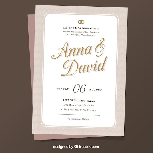 Minimalist wedding invitation template vector free download minimalist wedding invitation template free vector stopboris Image collections